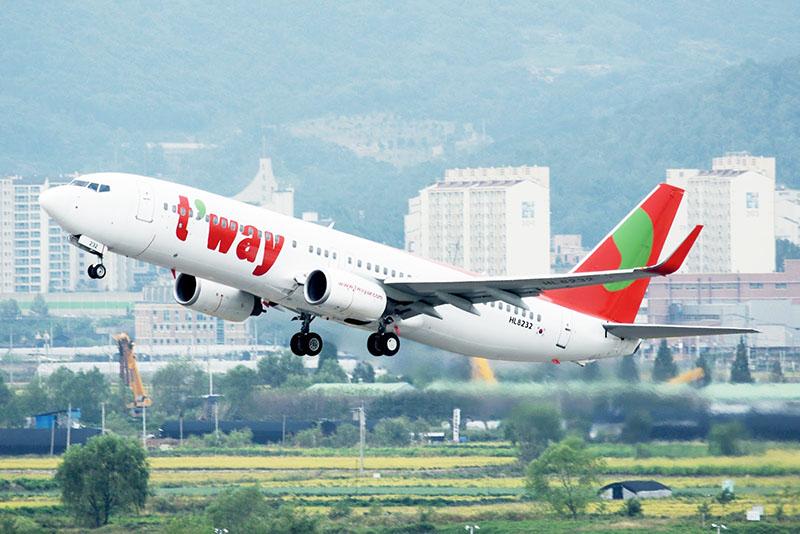韓國廉航德威航空 T'way Air 香港來回大邱新航線