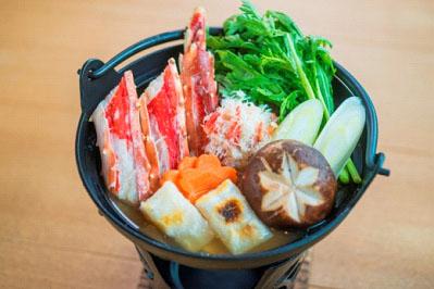 皇帝蟹伴蟹味噌清湯小鍋