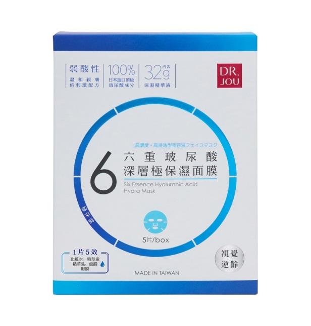 森田藥粧DRJOU六重玻尿酸深層極保濕面膜-5片入