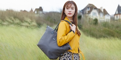 韓孝珠代言法國休閒袋品牌 Lipault