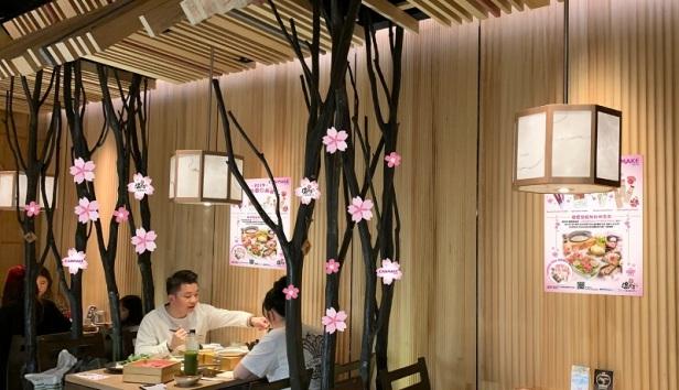櫻花主題店舖裝飾